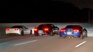 Download Battle of the V8s! CORVETTE vs MUSTANG! Video