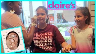 Download GETTING MY EARS PIERCED FOR THE SECOND TIME AT CLAIRE'S ″ OMG 😮 😱😫″ #236 Video