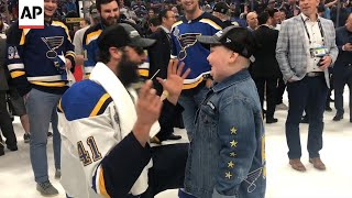 Download Laila Anderson celebrates Blues' Stanley Cup win Video