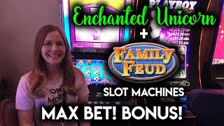 Download MAX BET BONUS! First Time Getting the Free Spins on the Family Feud Slot Machine! Video