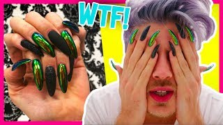 Download WEARING KYLIE JENNER NAILS FOR A DAY! | Joey Graceffa Video
