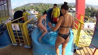Download Dangerous Boomerango Water Slide at Splash Jungle Water Park Video