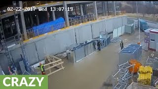 Download Insane Near-Death Accident On Construction Site! Video