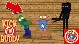 Download Monster School : KICK THE BUDDY CHALLENGE - Minecraft Animation Video