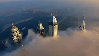 Download Dubai Marina above the clouds | Aerial Footage 4K | Awesome Emirati Films Video