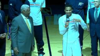 Download Oscar Robertson and Russell Westbrook Address OKC Crowd | April 12, 2017 Video