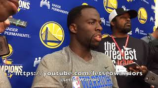 Download DRAYMOND GREEN responds to President Donald Trump's tweet and reacts to LeBron James' support Video