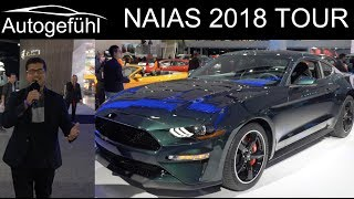 Download NAIAS Detroit Motor Show 2018 highlights REVIEW TOUR with Ford Mustang Bullitt - Autogefühl Video