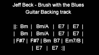 Download Jeff Beck- Brush with the Blues- Guitar backing track Video