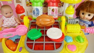 Download Hamburger cooking and baby doll kitchen play house Video