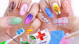 Download 10 Nail Art Designs Using HOUSEHOLD ITEMS! | The Ultimate Guide #2 Video