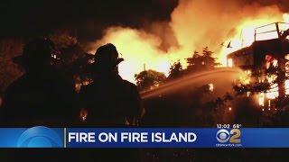 Download Fire Island Blaze Injures 2 Firefighters, Burns Multiple Homes Video