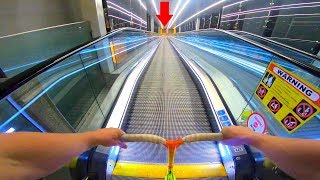 Download WORLD'S LONGEST ESCALATOR HILL BOMB ON SCOOTER!! Video