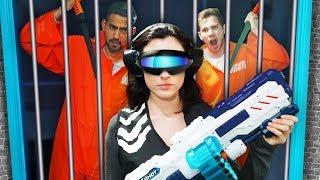Download NERF Robot Prison Team Escape Challenge! Video