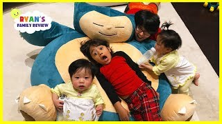 Download Twin Babies New Nap Bed + hide and seek playtime with Ryan's Family Review Video