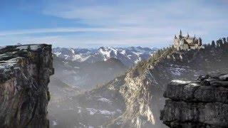 Download Mountain castle matte painting Video
