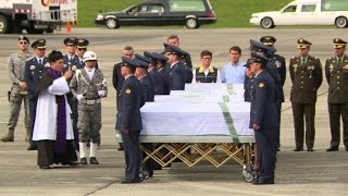 Download Bodies of Colombia plane crash victims flown home Video