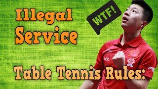 Download Table Tennis Rules of Illegal Service Video