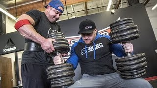 Download Stan Efferding's 215 lb Dumbbell Challenge Destroyed By Steve Gentili Video