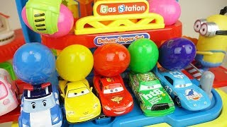 Download Cars station and surprise eggs car toys play Video
