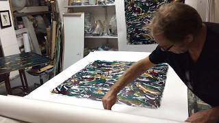 Download Making of monotype-prints with plastic bags 3 Video