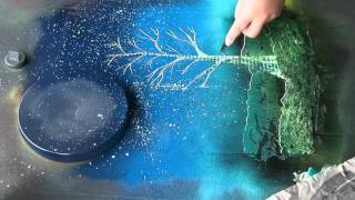 Download Spray Paint Art: Tree and Sun: ASMR? Video