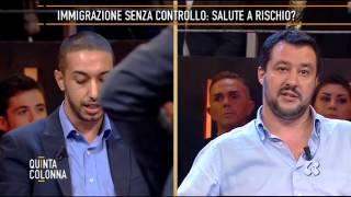 Download MATTEO SALVINI - TV Quinta Colonna - Immigrazione duro scontro tra Salvini e Chaouki Video