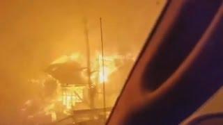 Download Wildfire rages in Gatlinburg, Tennessee Video