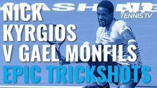 Download Nick Kyrgios vs Gael Monfils: Epic trickshot compilation! Video