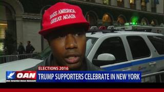 Download Trump Supporters Celebrate in New York City Video