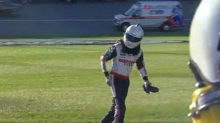 Download Brad Keselowski upset after wreck with Kyle Busch | Kansas (2013) Video
