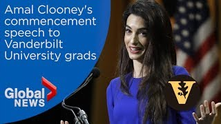 Download Amal Clooney delivers commencement speech to Vanderbilt grads Video