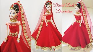 Download How to decorate a Doll with Indian Bridal Dress & Jewellery/DIY Bridal Doll Decoration/Indian Bride Video