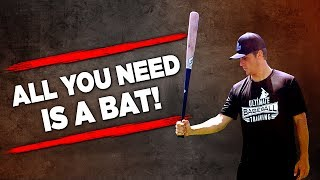 Download Baseball Workout For Hitters (NOTHING BUT A BAT?!) Video