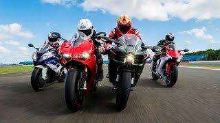 Download 2015 Superbike Showdown: Ducati 1299 Panigale S v. BMW S1000RR v. Yamaha R1 v. Kawasaki Ninja H2 Video