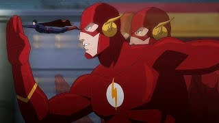Download Flash and Superman run away from Omega-Rays | Justice League: War Video
