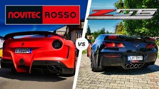 Download Ferrari F12 vs Corvette Z06 ACCELERATION SOUND & POV Autobahn by AutoTopNL Video
