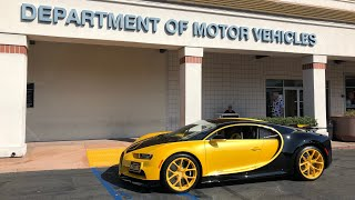 Download 17 Year Old takes DMV Driver's Test in Bugatti Chiron Video