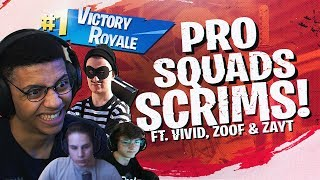 Download WINNING PRO SCRIMS WITH THE SQUAD! Ft. Vivid, Zoof & Zayt (Fortnite BR Full Match) Video