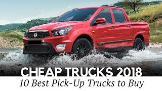 Download 10 Cheapest Pickup Trucks you Can Buy in 2018 (Interior and Exterior) Video