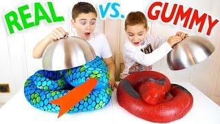 Download REAL VS GUMMY FOOD CHALLENGE - Trucs réels ou Bonbons ? Video