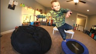 Download FATHER SON BEAN BAG JUMPING TIME! Video