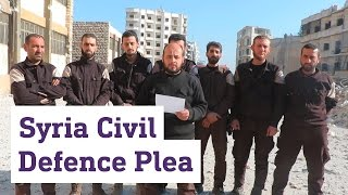 Download Syria's White Helmets issue plea for help in besieged Aleppo Video