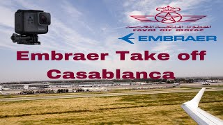 Download Royal Air Maroc Embraer 190 | Casablanca Mohamemed 5 Airport Take off | Go Pro Video