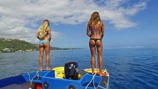 Download KALOEA Surfer Girls - Tubing in Tahiti (HD Drone )... Funny Wipeouts... Video