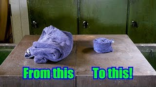 Download How to make XL Sized Compressed Towel with Hydraulic Press Video