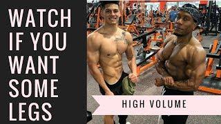 Download GROW THEM LEGS | High Volume Leg Day (with Branden Vasquez) Video