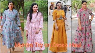Download Myntra Dress haul| Affordable Myntra Haul|| Myntra midi & Maxi dresses | Best Myntra Haul Video