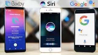 Download Siri (iOS 11) vs Bixby (Note 8) vs Google Assistant (Oreo) Video