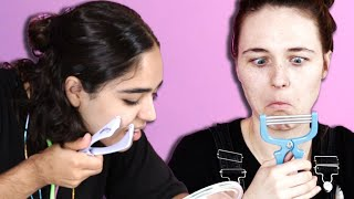 Download Women Test Facial Hair Removal Products Video